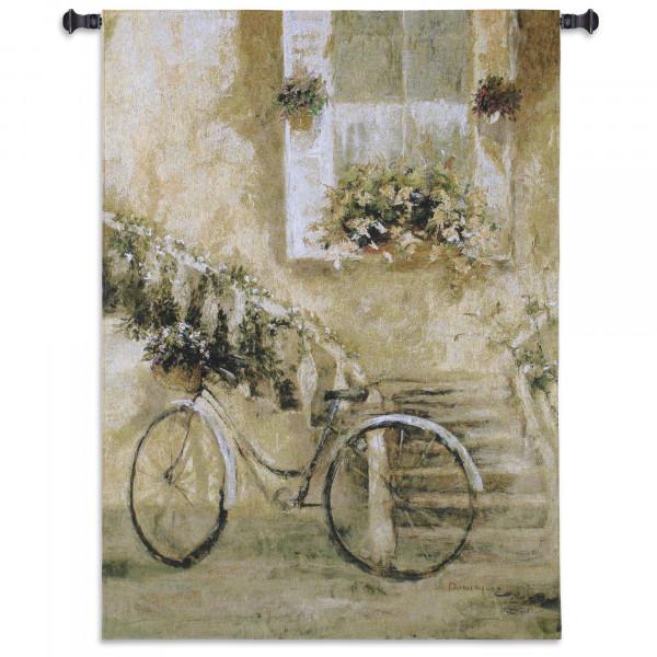 Купить Гобелен Велосипед во дворе