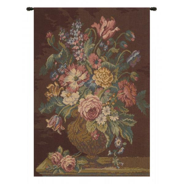 Купить Гобелен Ваза с цветами (коричневый)