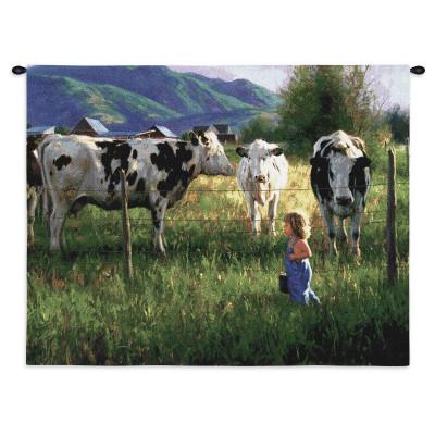 Купить Гобелен Мальчик и коровы