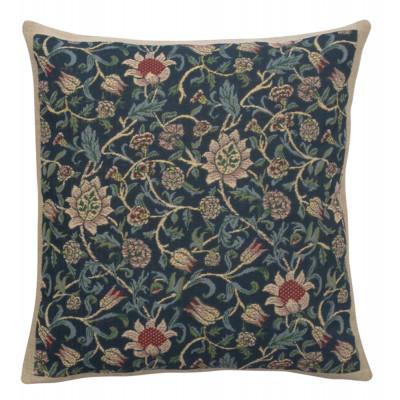 Подушка декоративная Флер (Уильям Моррис, синий)