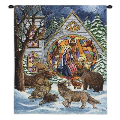 Гобелен Рождество в снегу