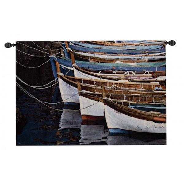 Гобелен Лодки на причале