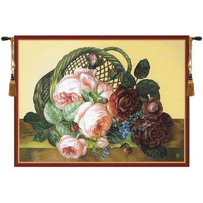 Купить Гобелен Корзина с цветами (бежевый)