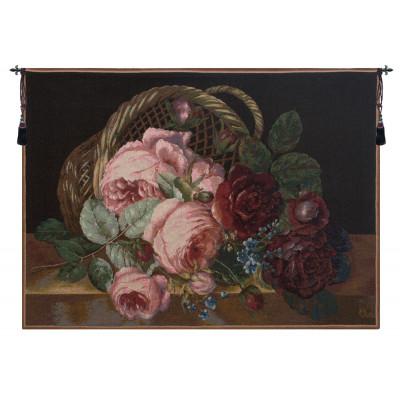 Гобелен Корзина с цветами (черный)
