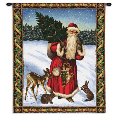 Гобелен Дед Мороз (красный)