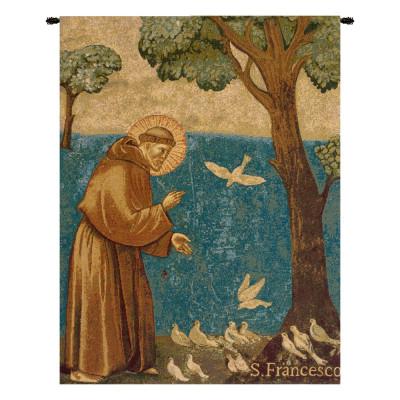 Купить Гобелен Святой Франциск, проповедь птицам
