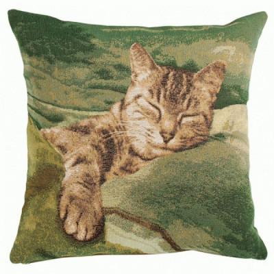 Спящая кошка (зеленый) 1