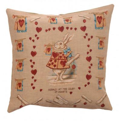 Подушка декоративная Сердце кролика (Алиса в стране чудес)