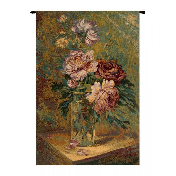 Купить Гобелен Ваза с цветами (серый)