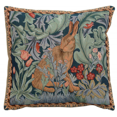 Кролик как Уильям Моррис II французский подушки