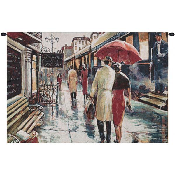 Купить Гобелен Двое под зонтом