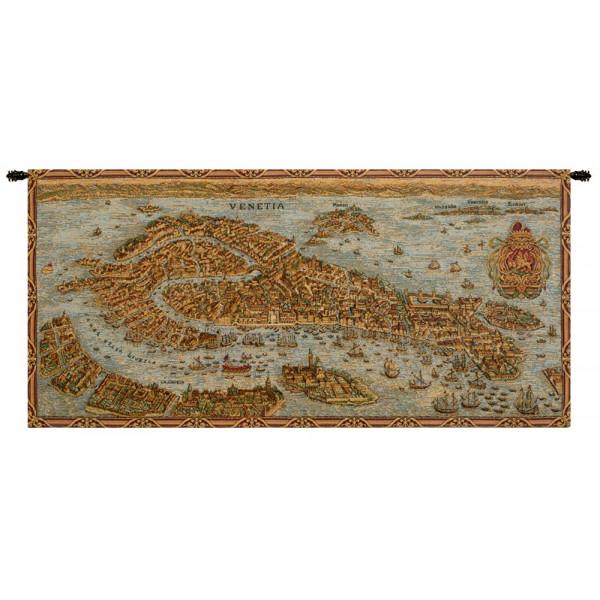 Гобелен Древняя карта Венеции (ландшафт)