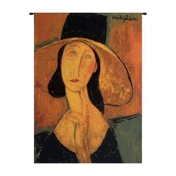 Купить Гобелен Жанна Эбютерн в большой шляпе