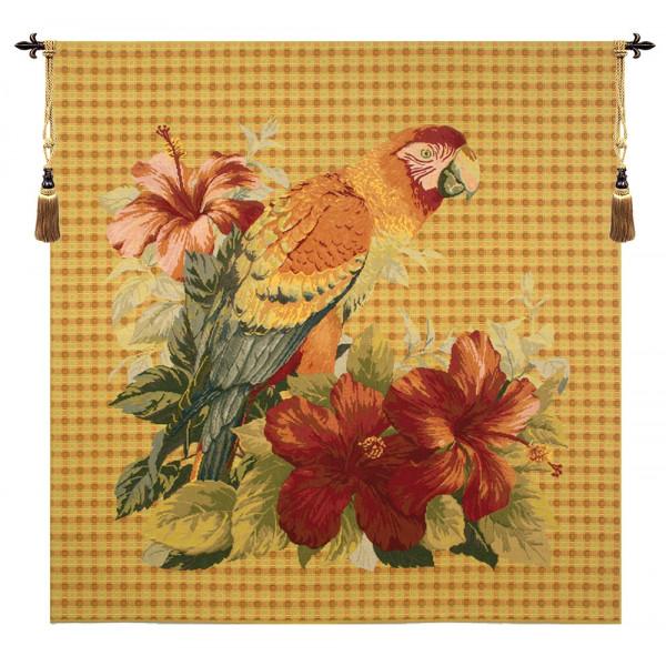 Купить Гобелен Цветы и попугай