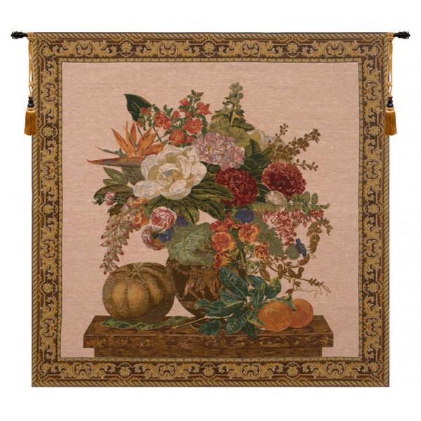 Купить Гобелен Цветочная ваза и фрукты