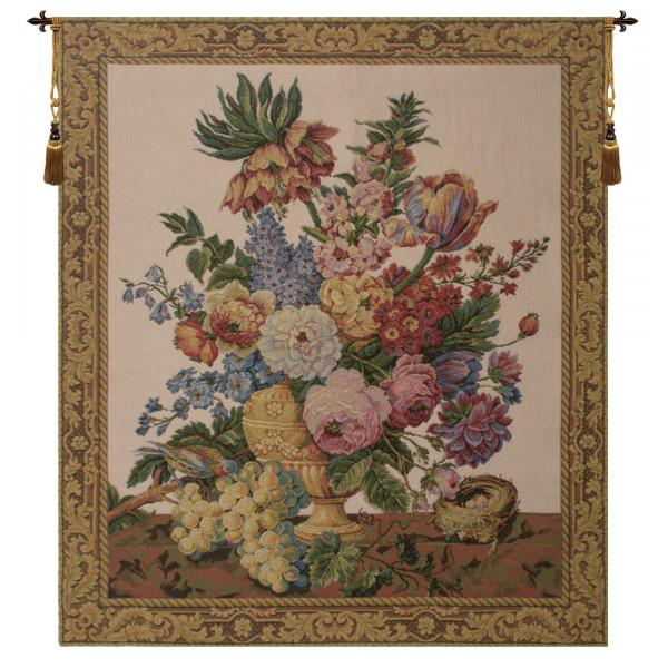 Гобелен Ваза с цветами с фруктами