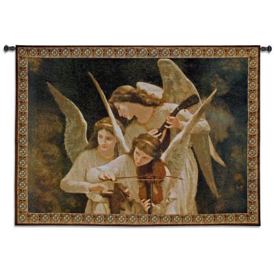 Гобелен Ангелы играют на скрипке
