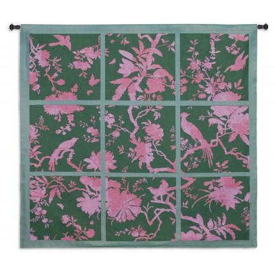 Гобелен Цветочные квадраты (розовый)