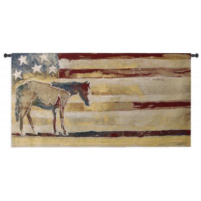 Гобелен Лошадь (красный белый голубой)