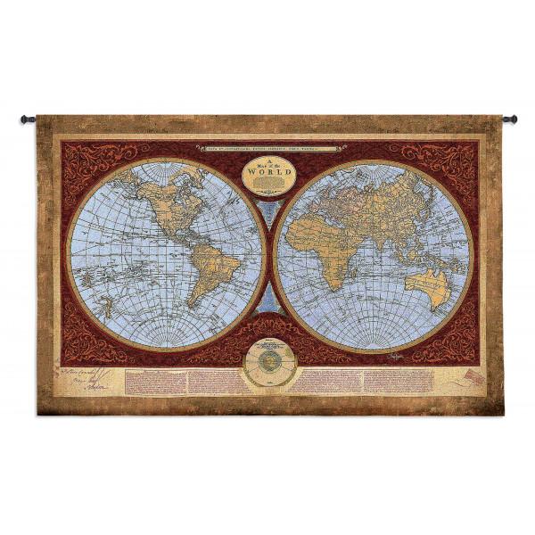 Купить Гобелен Карта мира
