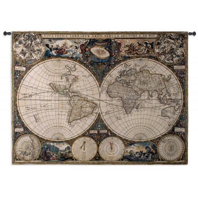 Гобелен Старая карта мира