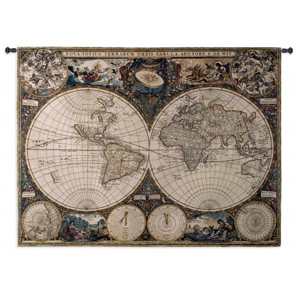 Купить Гобелен Старая карта мира