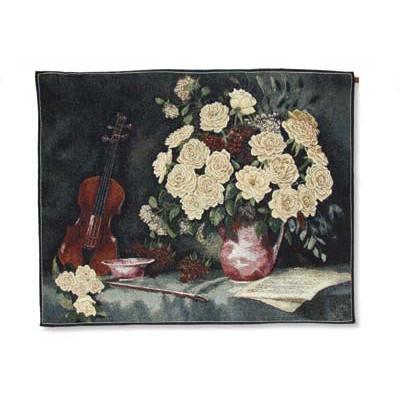 Гобелен Желтые розы и скрипка