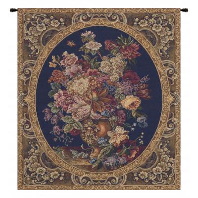 Купить Гобелен Цветочная композиция в вазе (темно синий)
