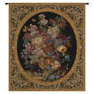 Гобелен Цветочная композиция в вазе (темно зеленый)