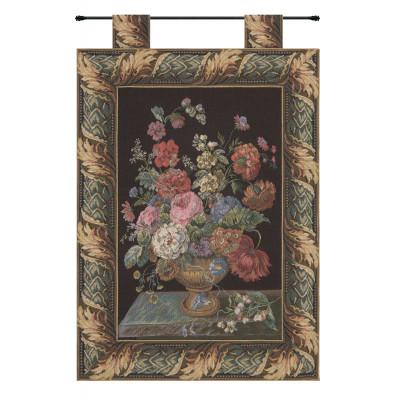 Купить Гобелен Цветочная корзина черный
