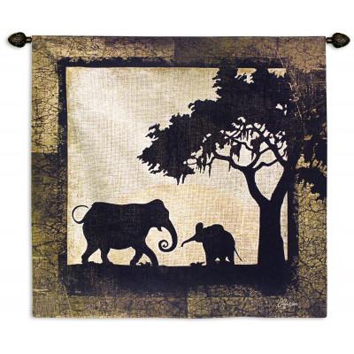 Гобелен Слоны в Серенгети