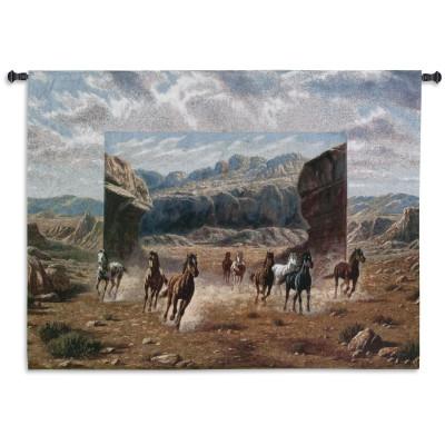Гобелен Бегущие лошади