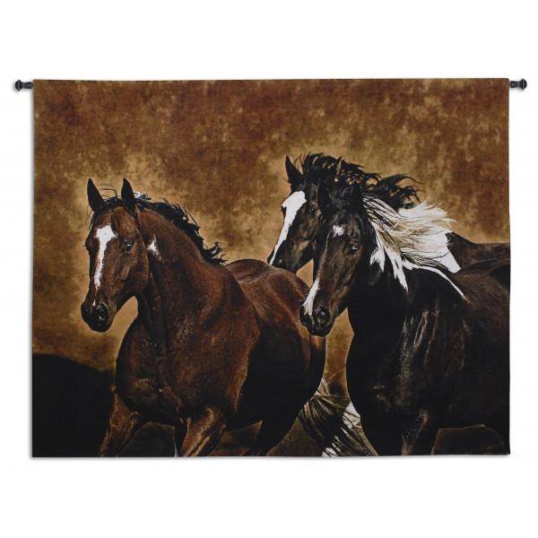 Купить Гобелен Бег лошадей