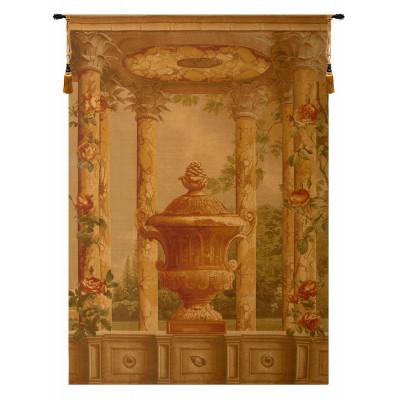 Купить Гобелен Урна с колоннами коричневый