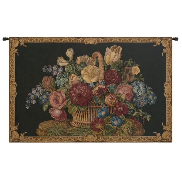 Купить Гобелен Цветочная корзина II (черный)