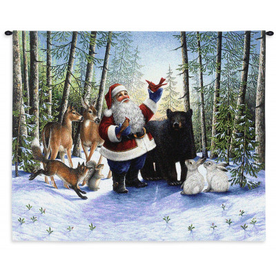 Купить Гобелен Санта в лесу