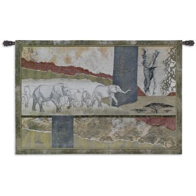 Купить Гобелен Слоны в Серенгети