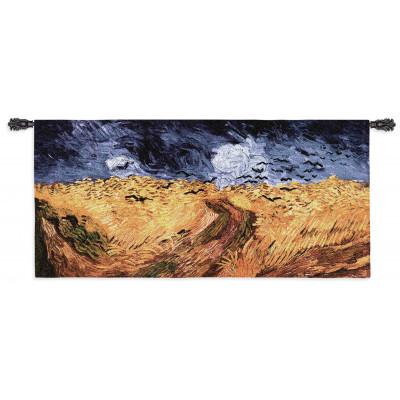 Гобелен Пшеничное поле с воронами