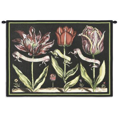 Гобелен Тюльпаны на черном I