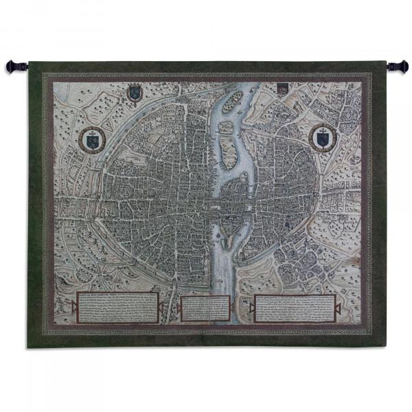 Купить Гобелен Карта Парижа