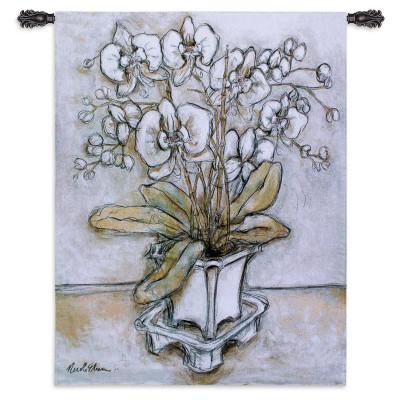 Гобелен Белая орхидея