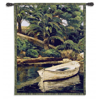 Гобелен Лодка и пальмы