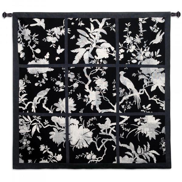 Купить Гобелен Цветочные квадраты (черный)