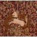 Подушка декоративная Единорог в плену (красный фон)